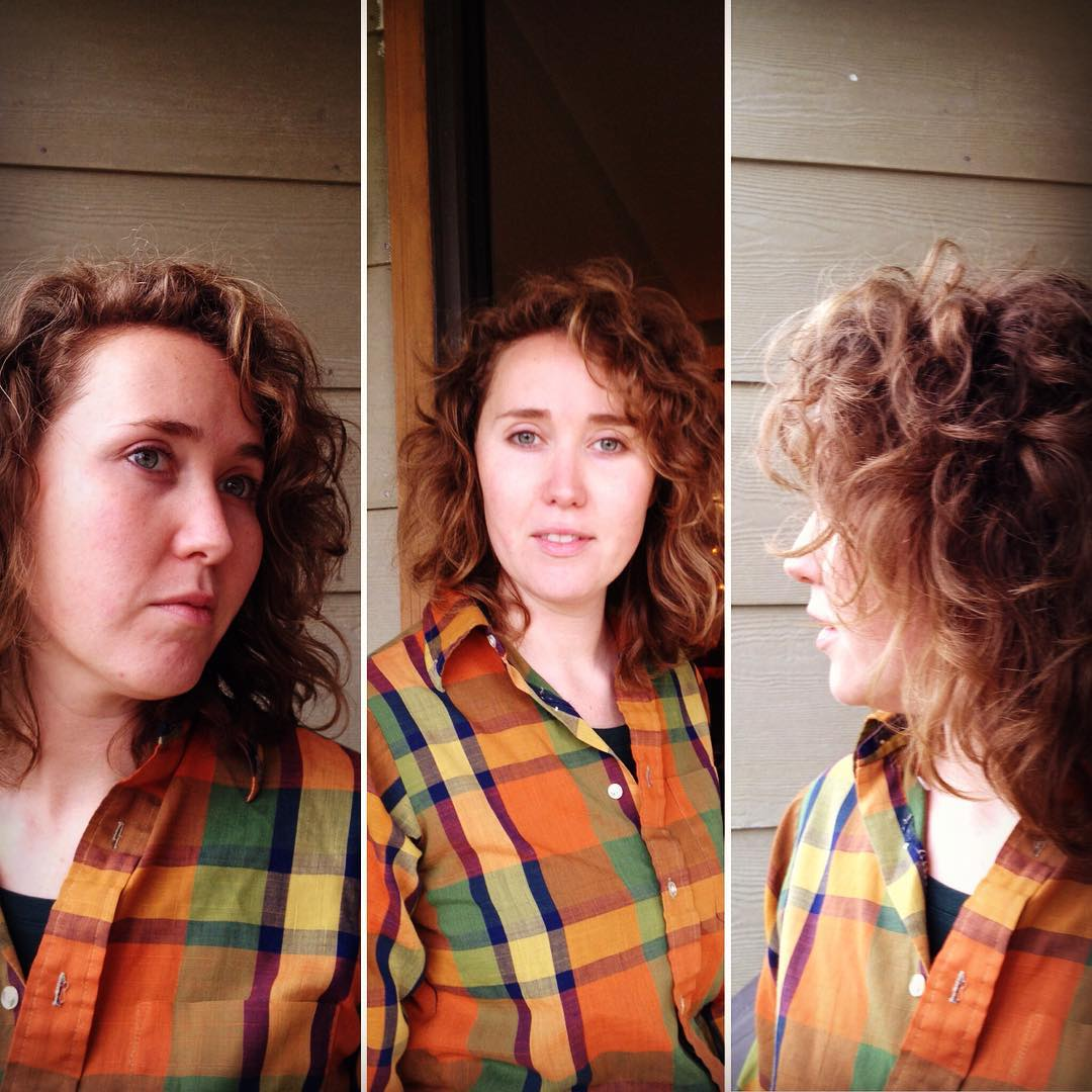 Curly Shag Hair With Color