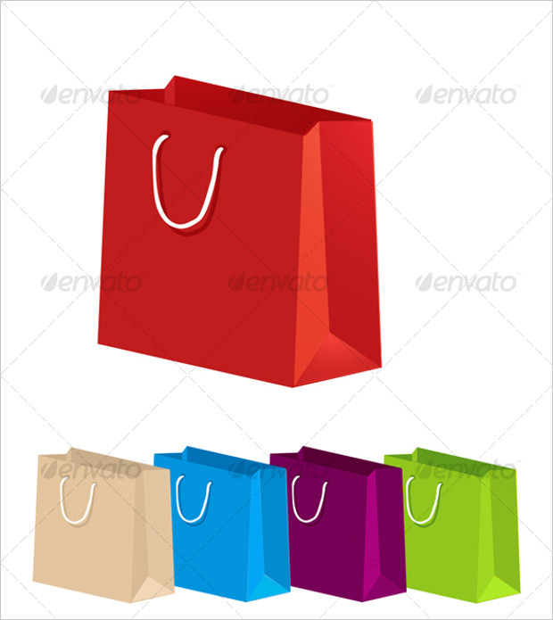 Shopping Paper Bags Icons