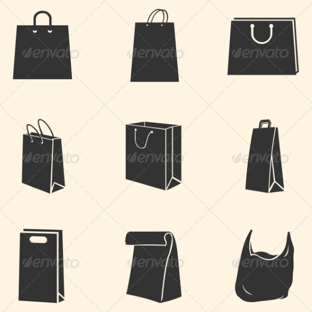 Set of Shopping Bags Icons