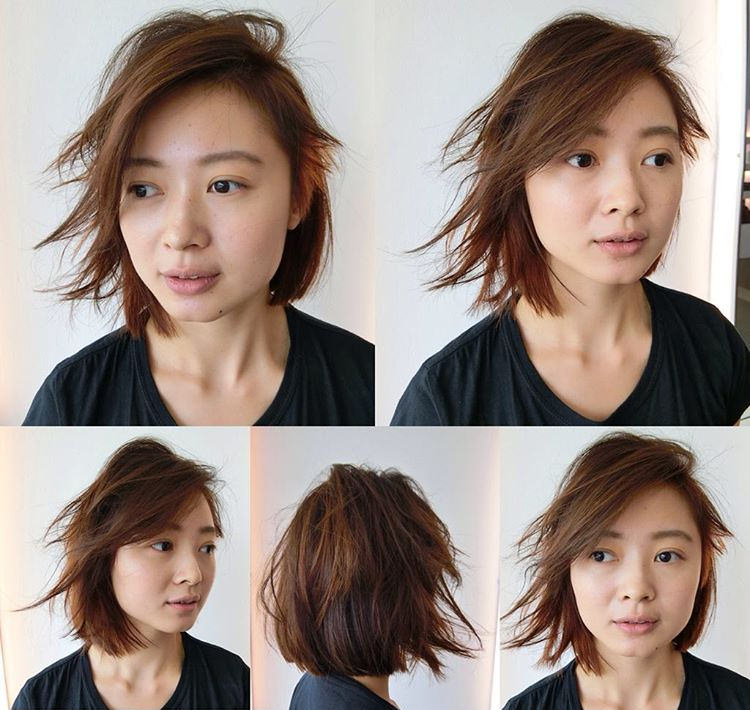 Creative Undercut Short Shag Hair