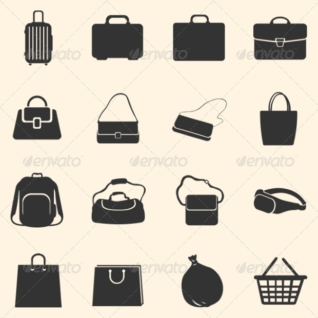 DIfferent Set of Bags Icons