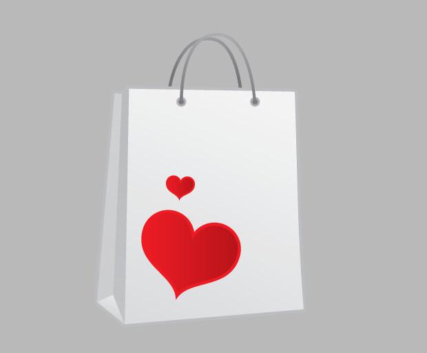 Shopping bag heart Icon