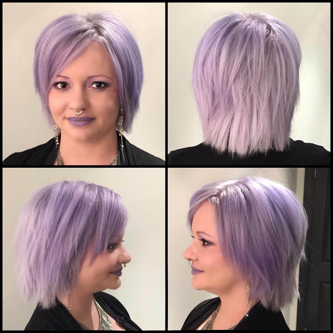 lavendar cute hair style