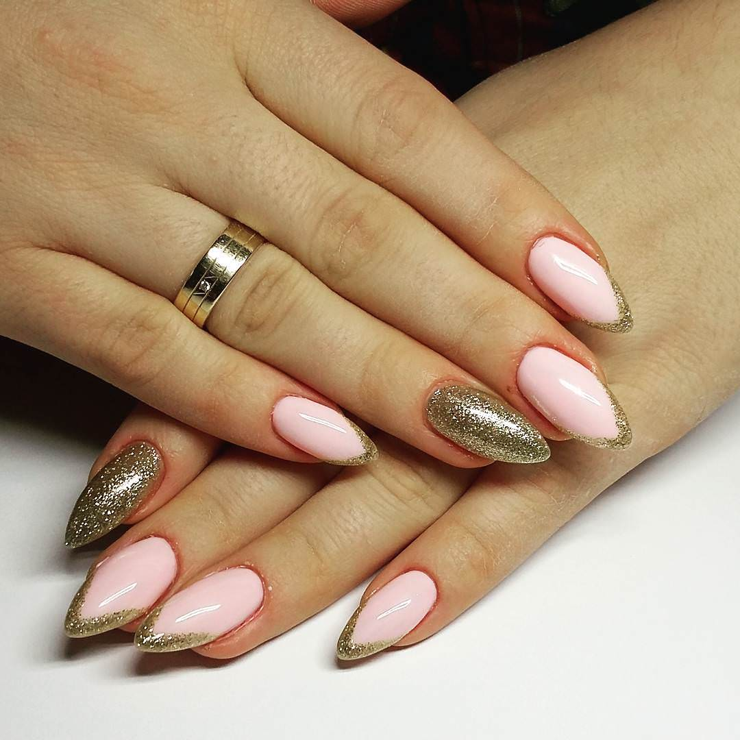 25 light pink nail art designs ideas design trends premium gold line light pink nails design prinsesfo Images