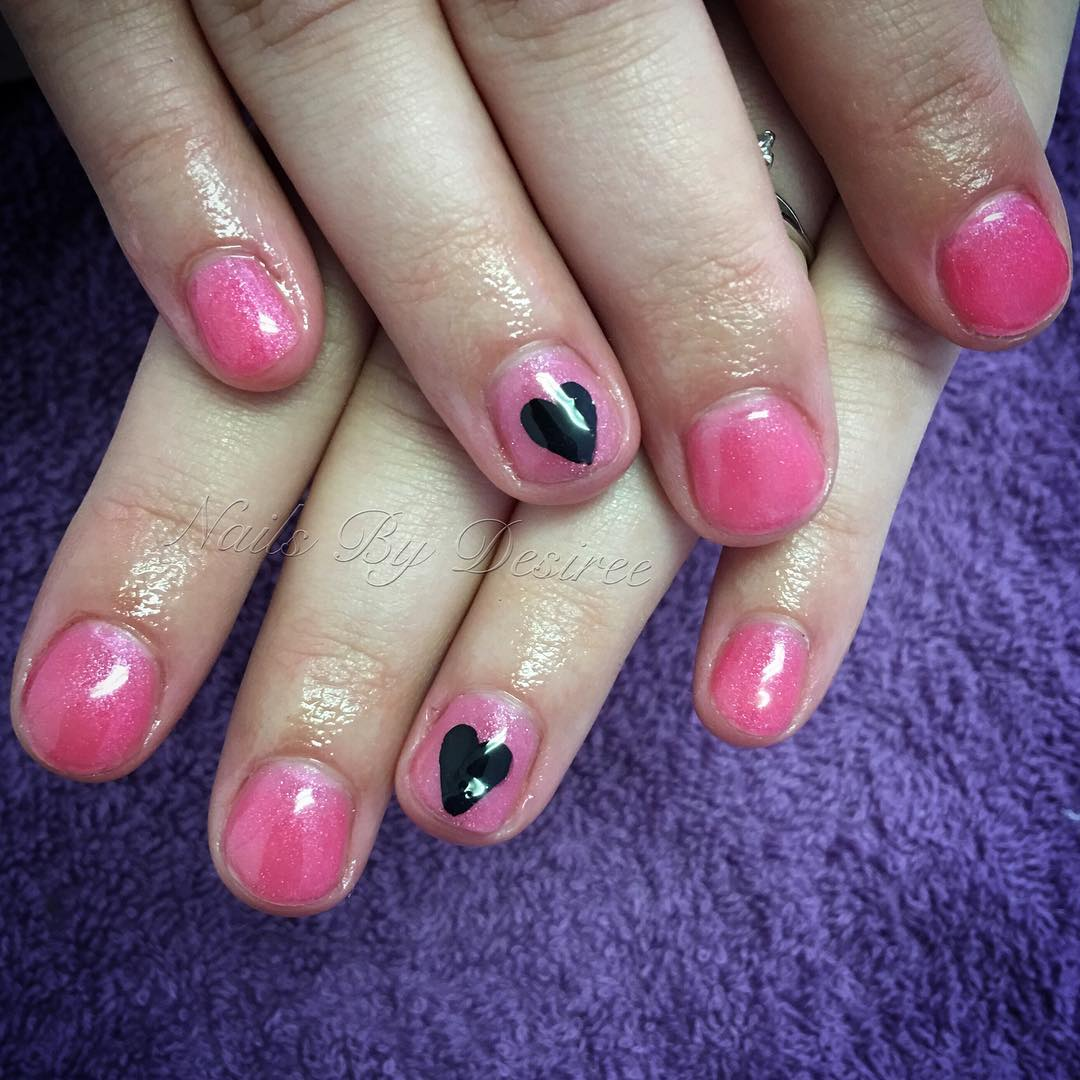 love light pink nail design