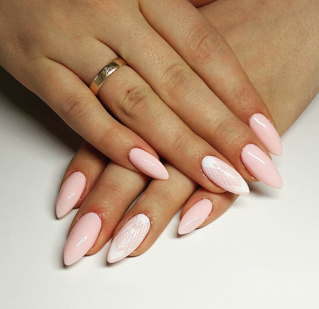 25+ Light Pink Nail Art Designs, Ideas