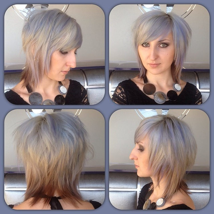 Grey Haircut of Short Shag