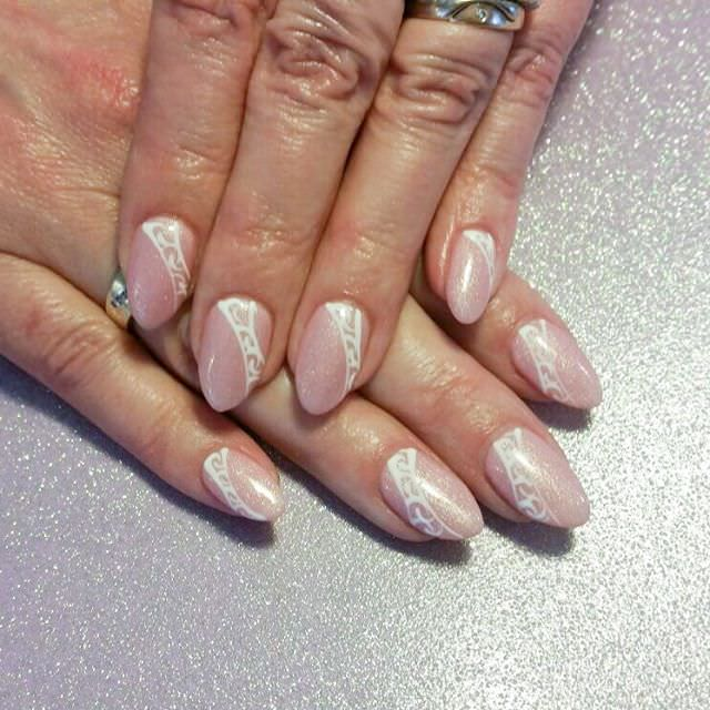 25 light pink nail art designs ideas design trends premium light pink white nail design prinsesfo Choice Image