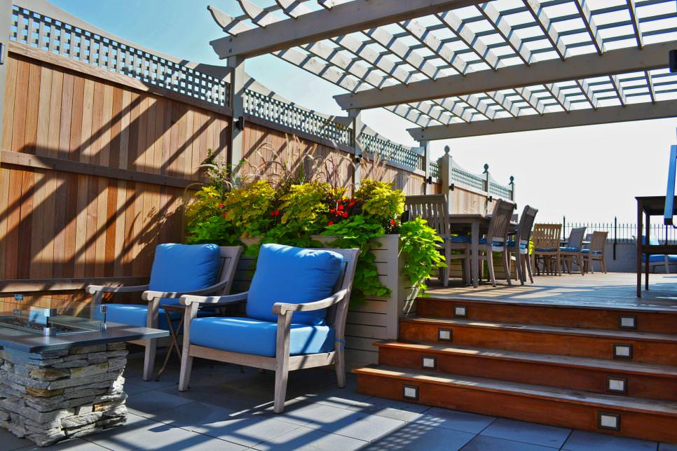 outdoor rooftop deck gardens