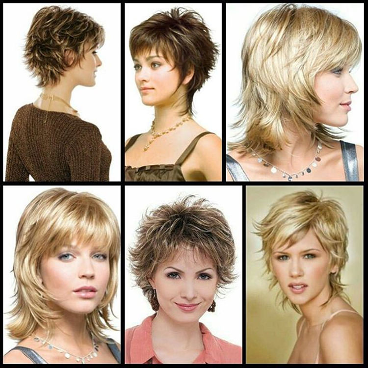 Different Shaggy Hair styles