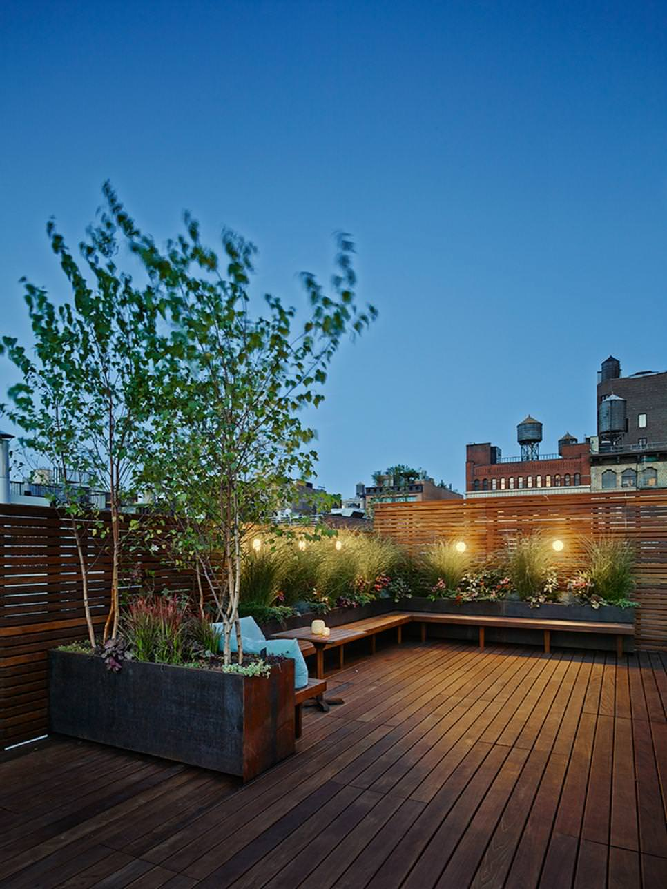 21+ Roof Top Garden Designs, Decorating Ideas