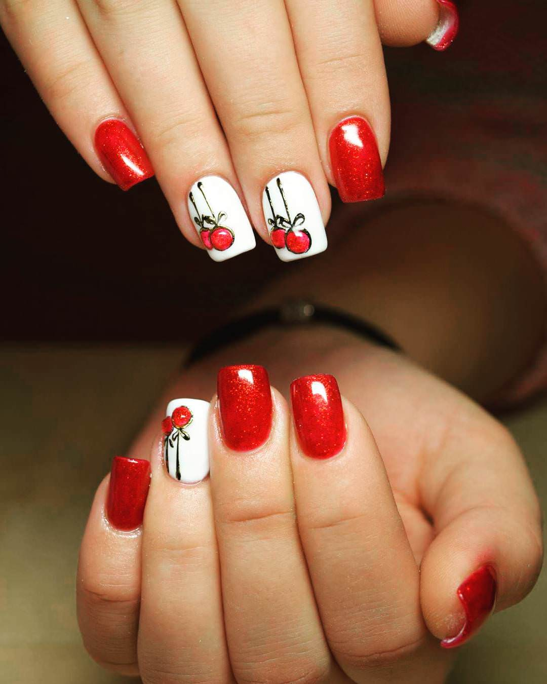 29+ Red Acrylic Nail Art Designs , Ideas