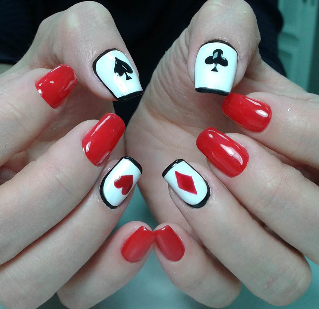 Adorable Nail Art: 29+ Red Acrylic Nail Art Designs , Ideas