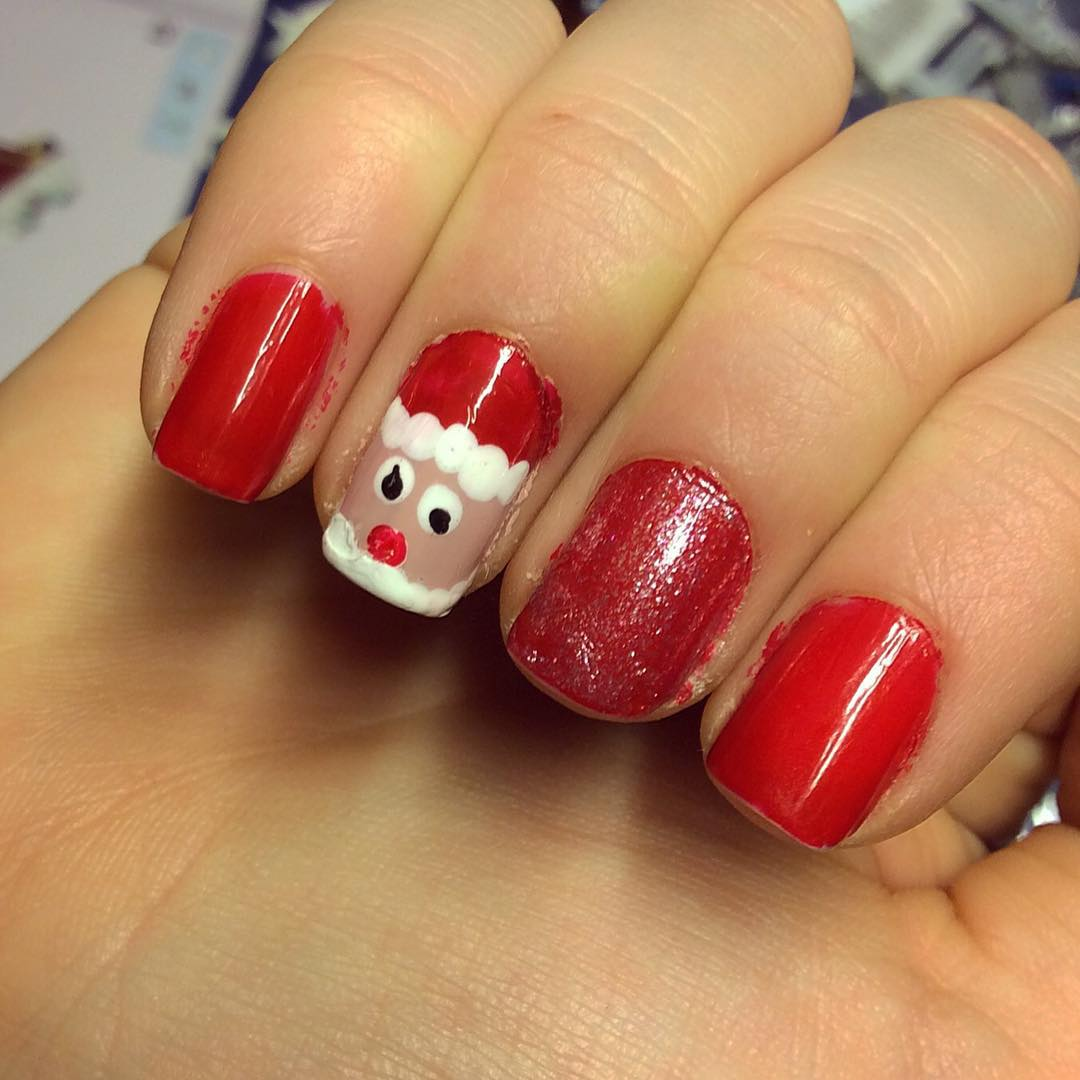 Santa Design Nail Art Pattern