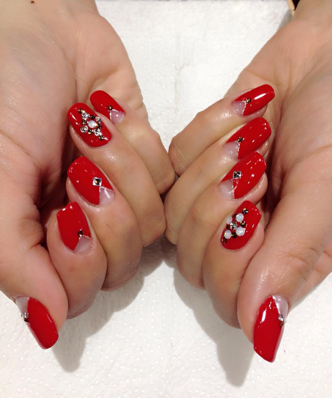 Stylish Red Nail Design Trend