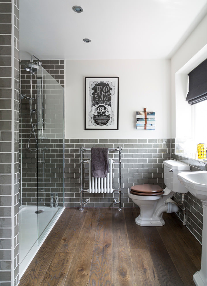 custom gray bathroom tiles