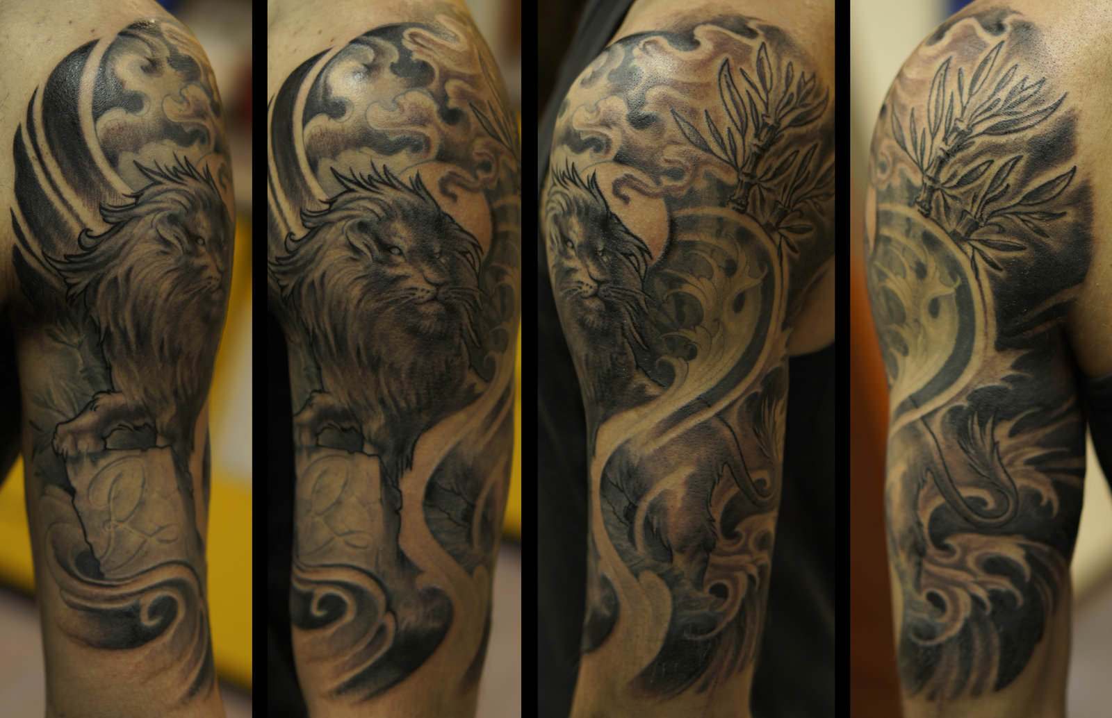 Japanese Lion Half Sleeve Tattoo