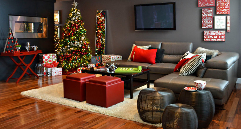 19+ Gray and Red Living Room Designs, Decorating Ideas ...