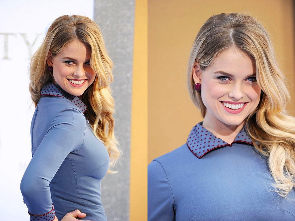Alice eve with blonde hair