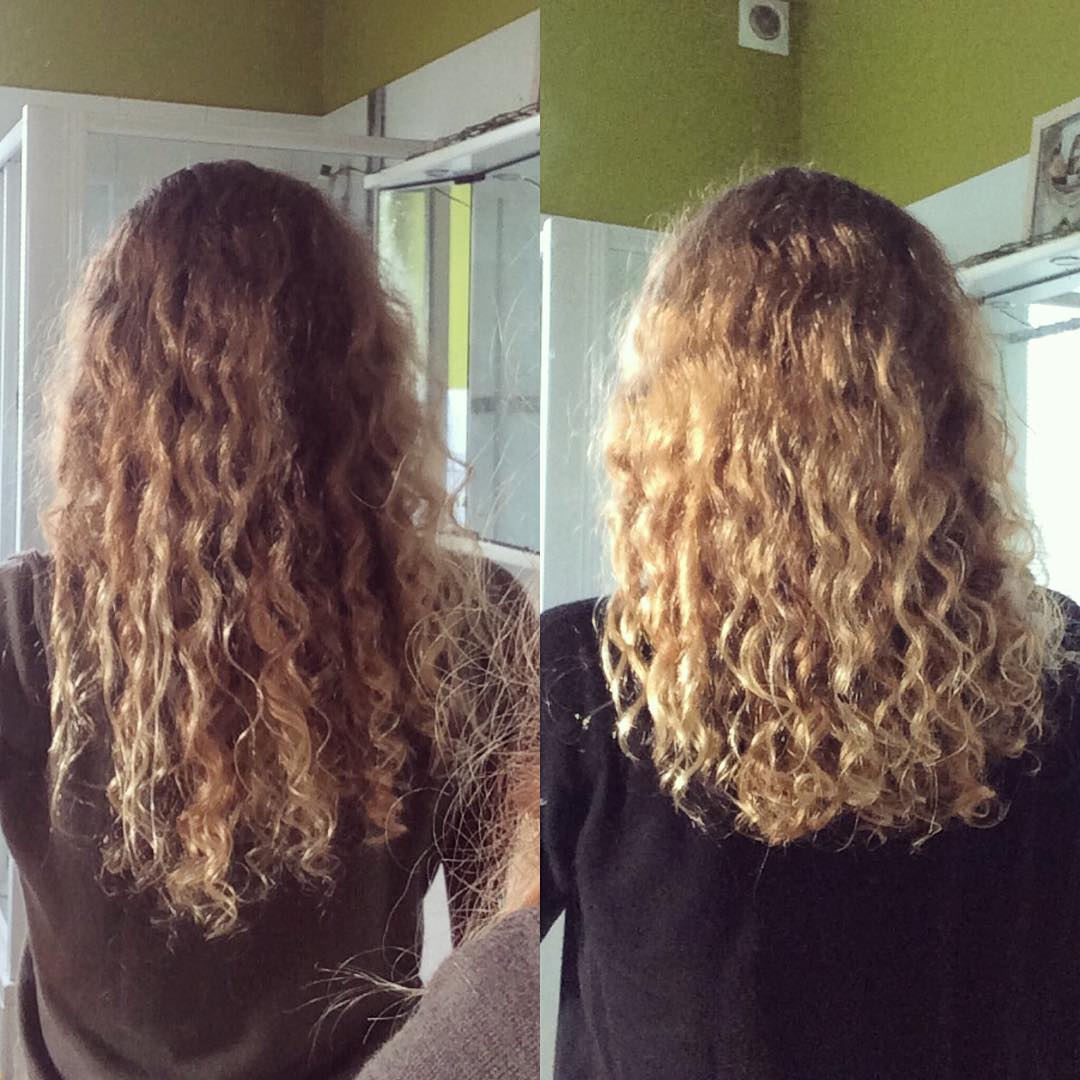 Blond Curly long Hair