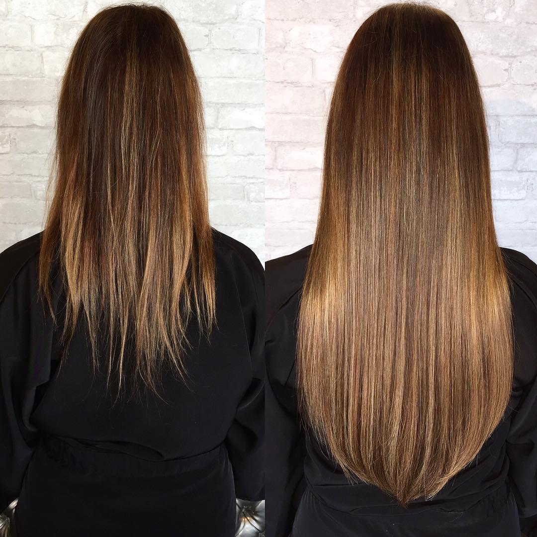 Blonde long sleek Hair Extensions