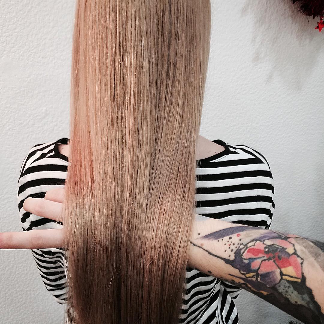 Caramel blonde long hair