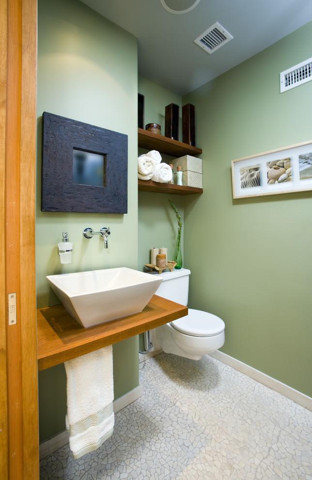 comfy bathroom wooden shelves