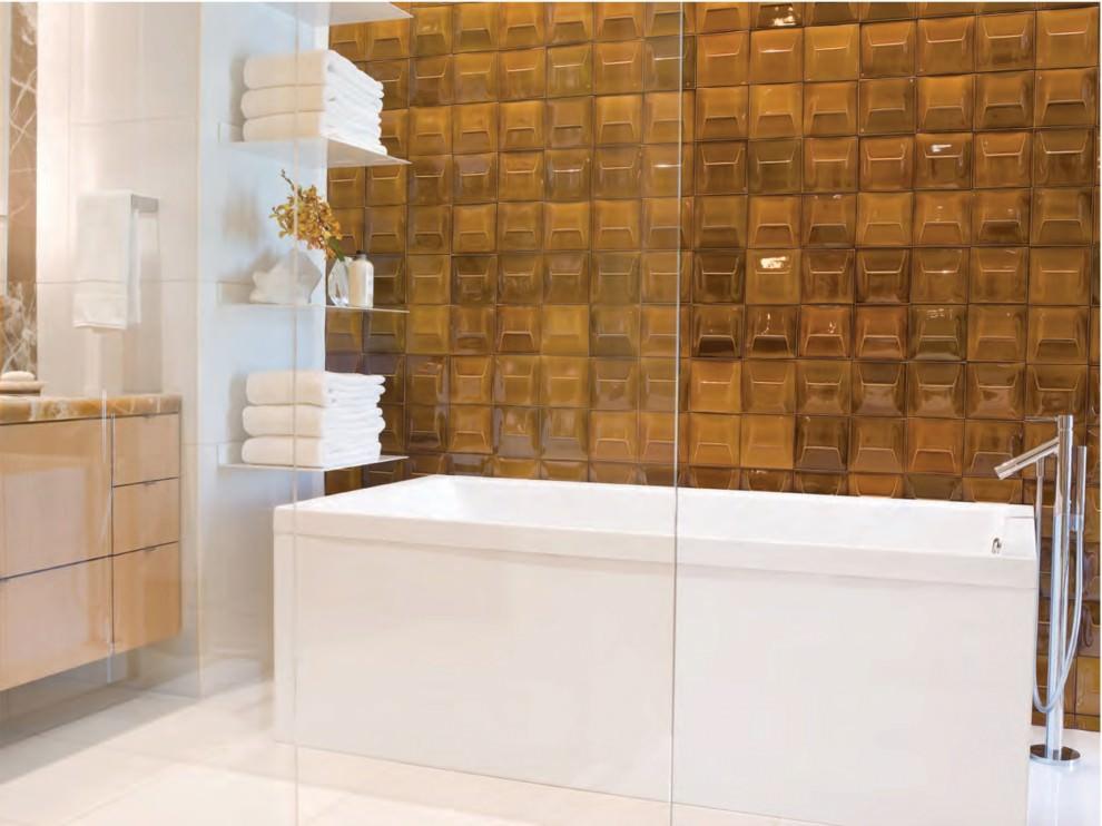 white contemporary bathroom shelves