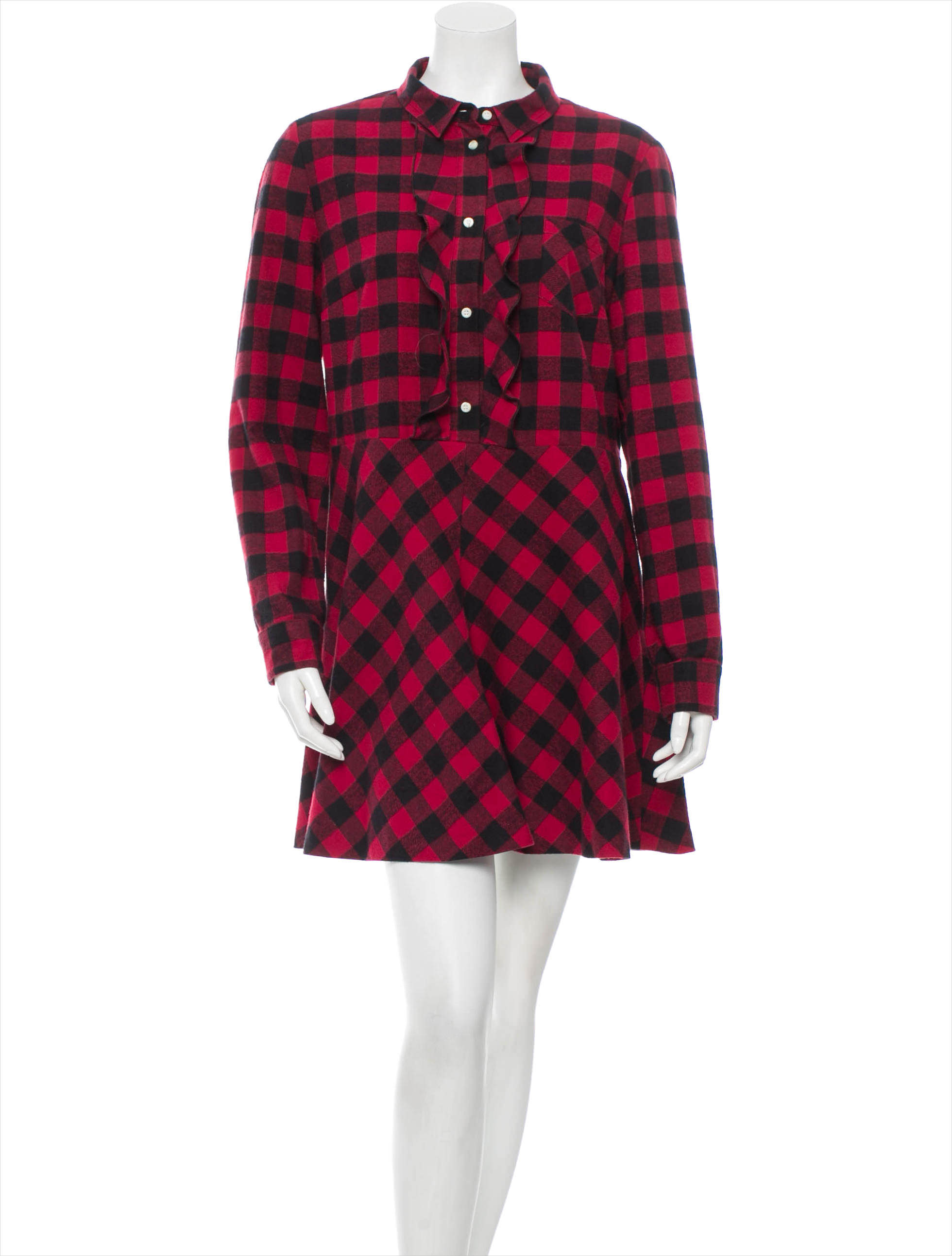 valentino red colored pattern dress1