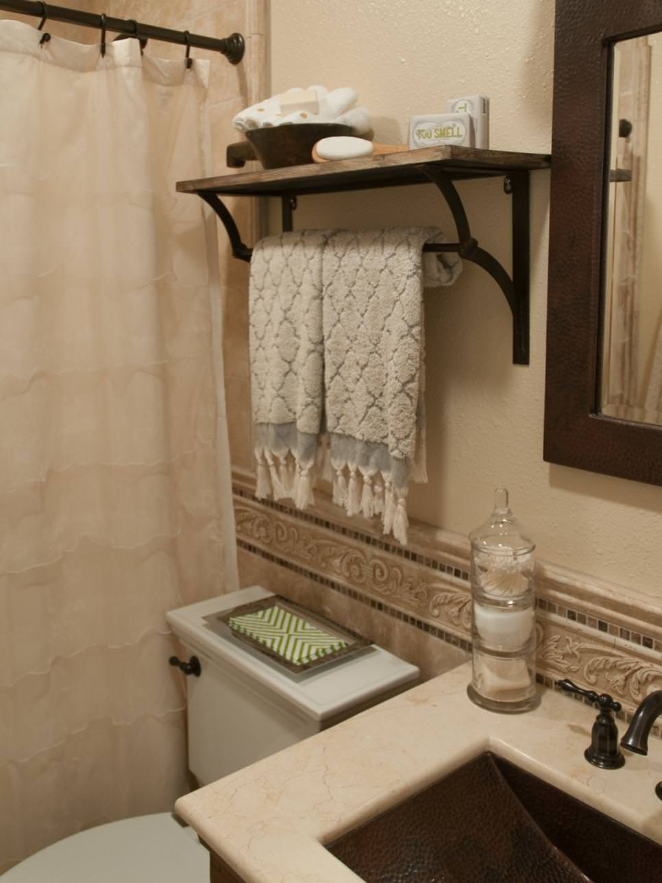 24 bathroom shelves designs bathroom designs design for Small rustic bathroom designs