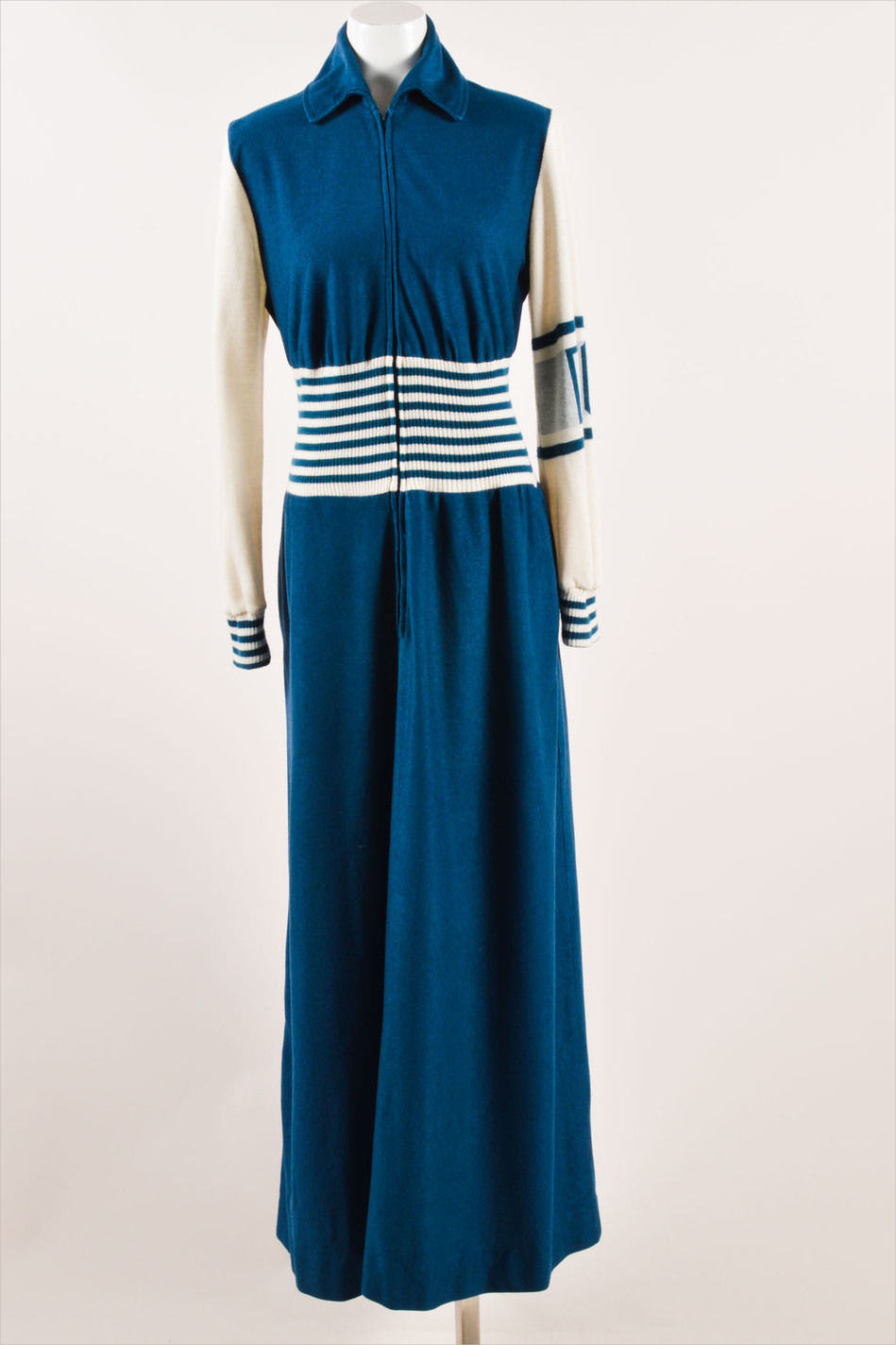 dior blue colored long sleeve dress