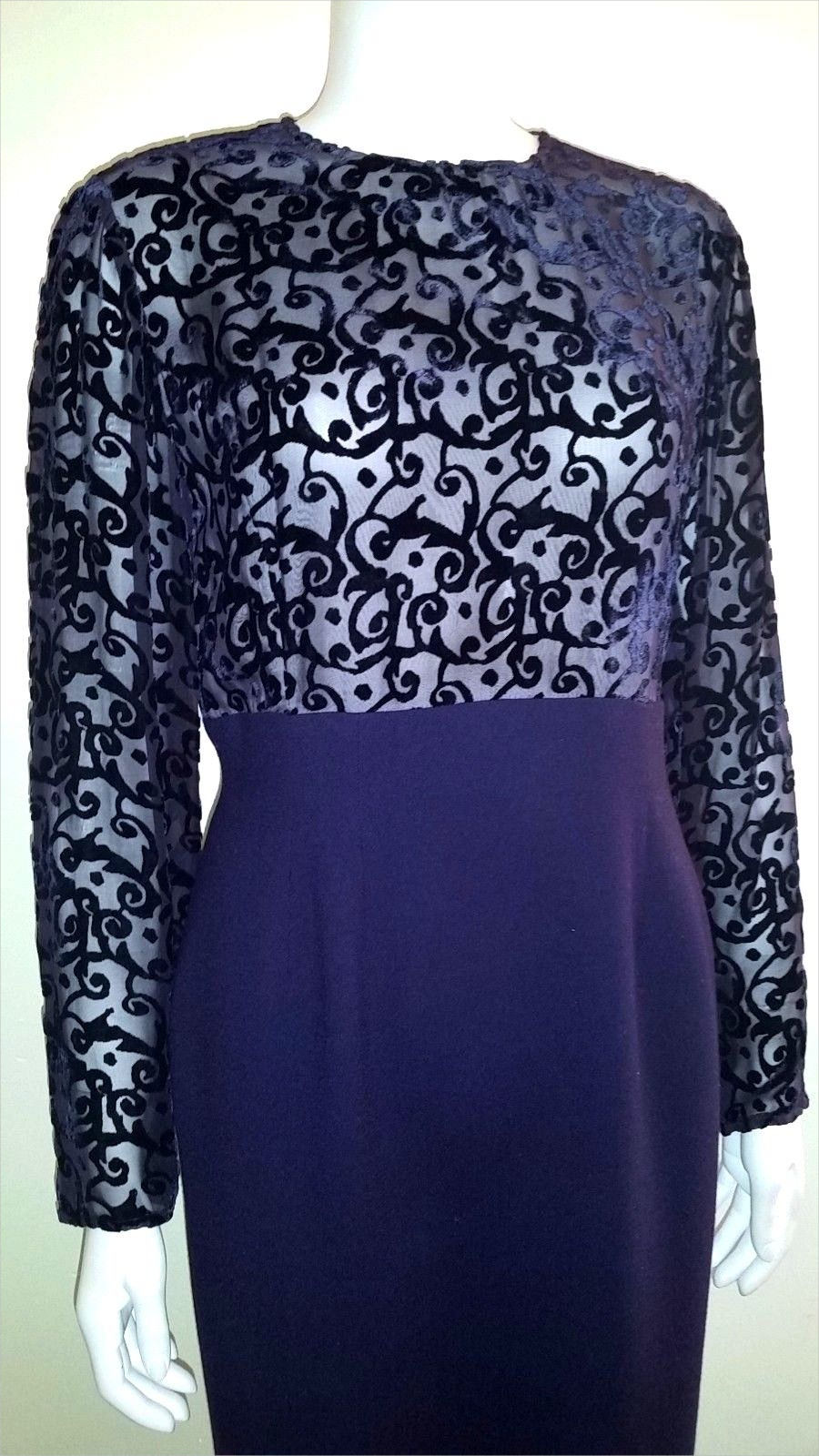 dior cocktail purple lined dress
