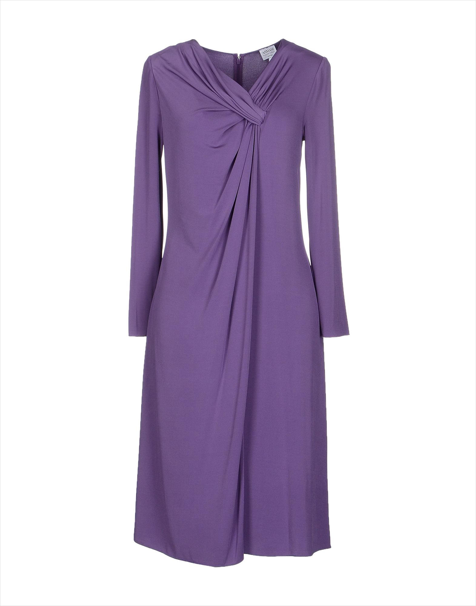 Armani Purple Colored Knee Length Dress