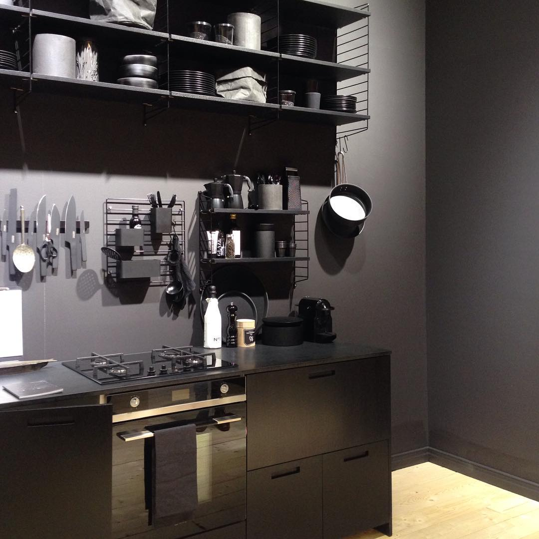 Amazing Black Wooden Kitchen Cabinets