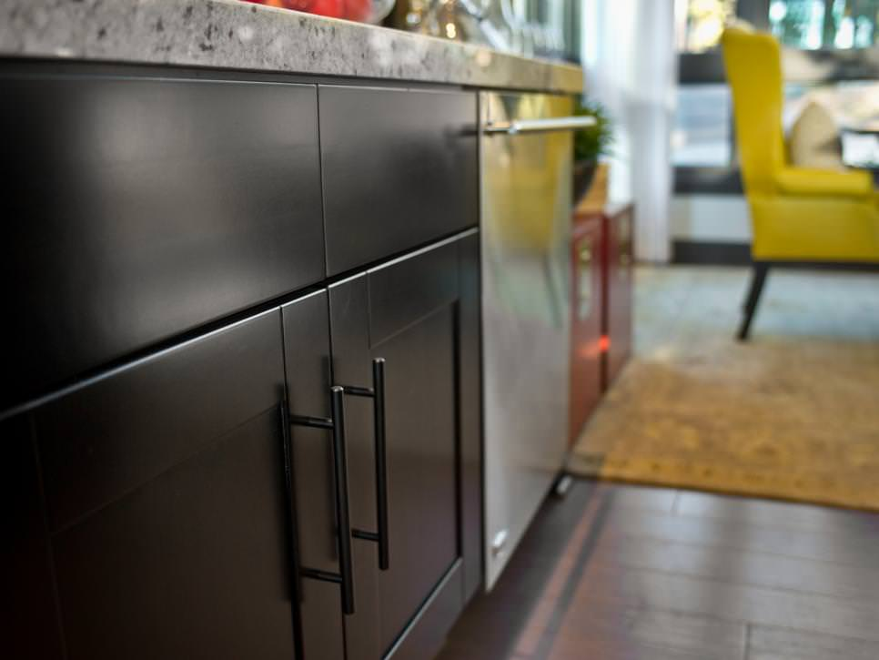 Contemporary Black Kitchen Cabinetry