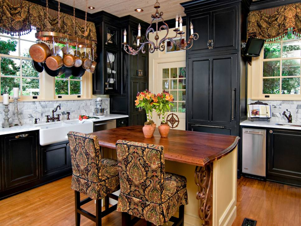 Black Kitchen Design Ideas ~ Black kitchen cabinet designs decorating ideas