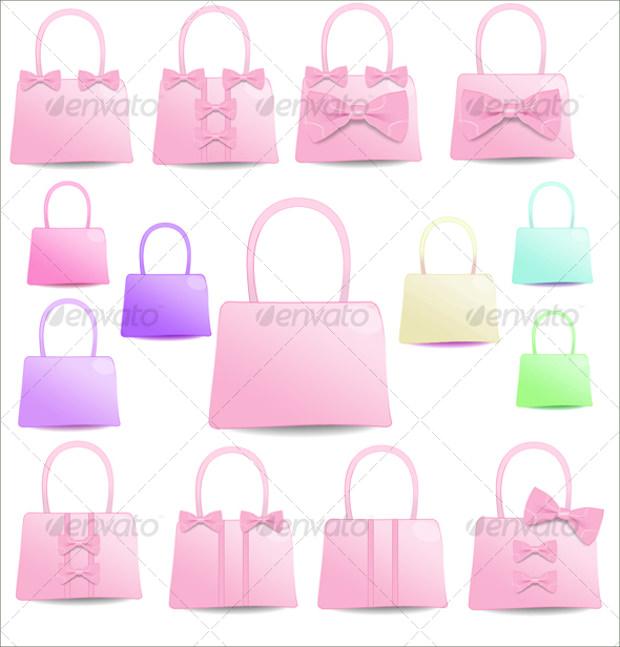 Pink Ribbon Bag Icons