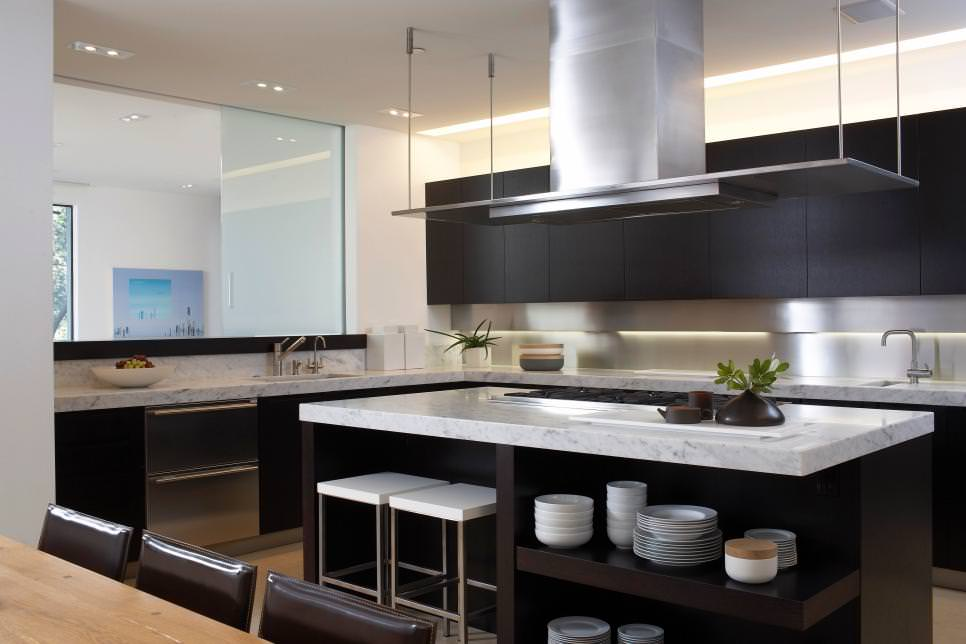 stunning black kitchen cabinets
