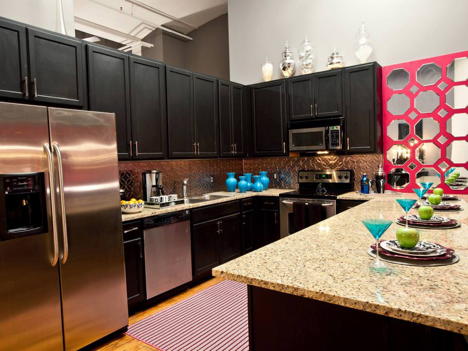Visual Treat Contemporary Kitchen Black Cabinets