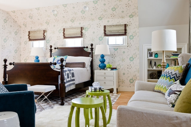 Light Blue-transitional-bedroom