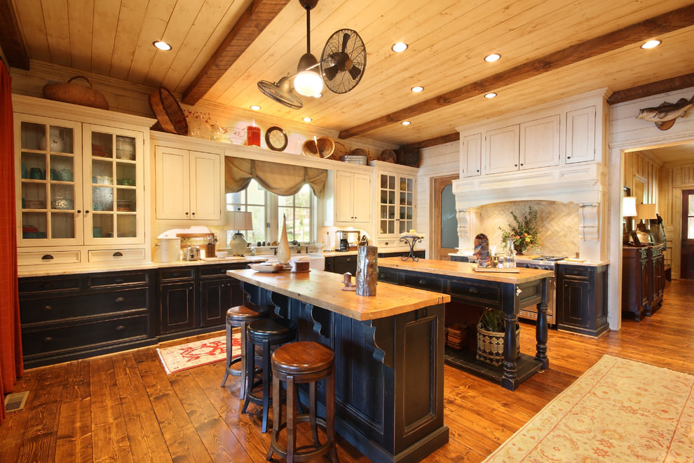 Amazing Rustic Kitchen Black Cabinets