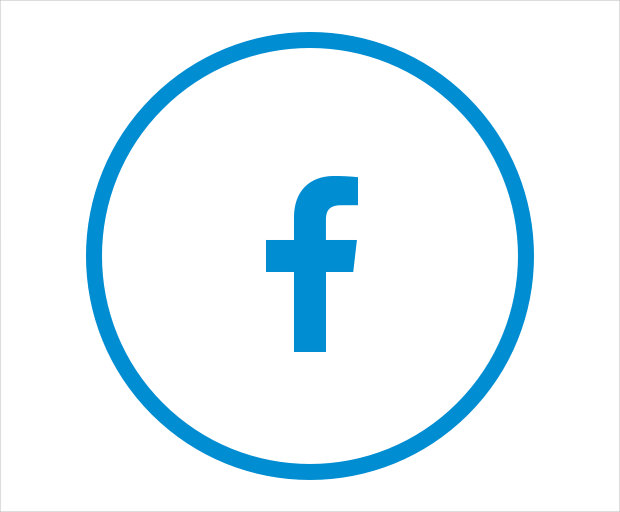 Circular Facebook Share Icon