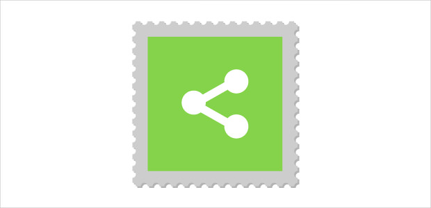Social Stamp Share Icon