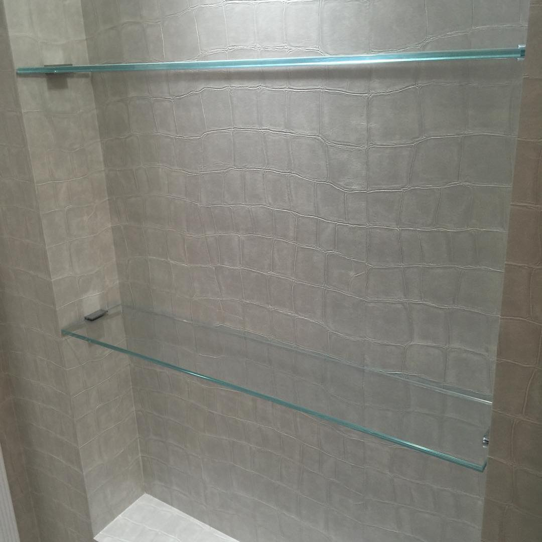 Hanging Bathroom Glass Shelves