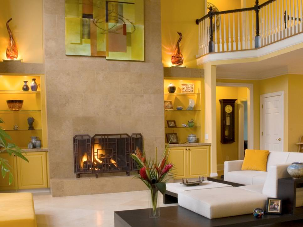 25 yellow living room designs decorating ideas design Yellow room design ideas