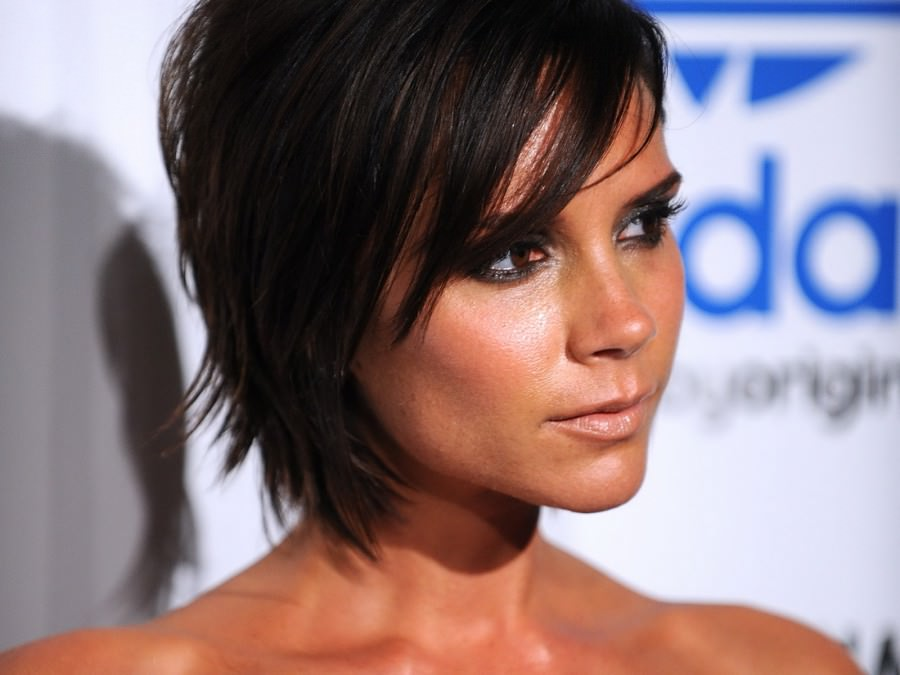 Victoria Beckham with edge bob hair cut