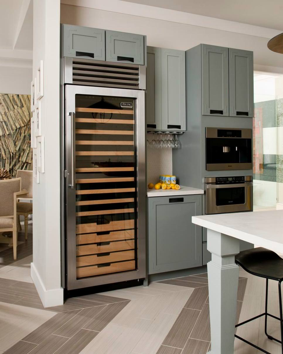 Contemporary Kitchen With Gray Cabinets