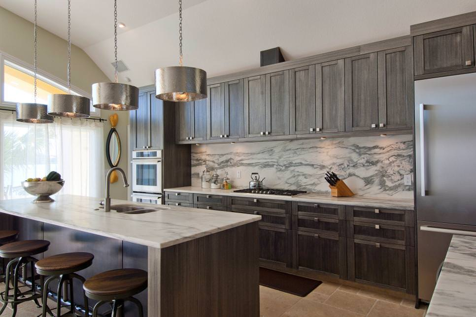 gorgeous grey kitchen cabinetry