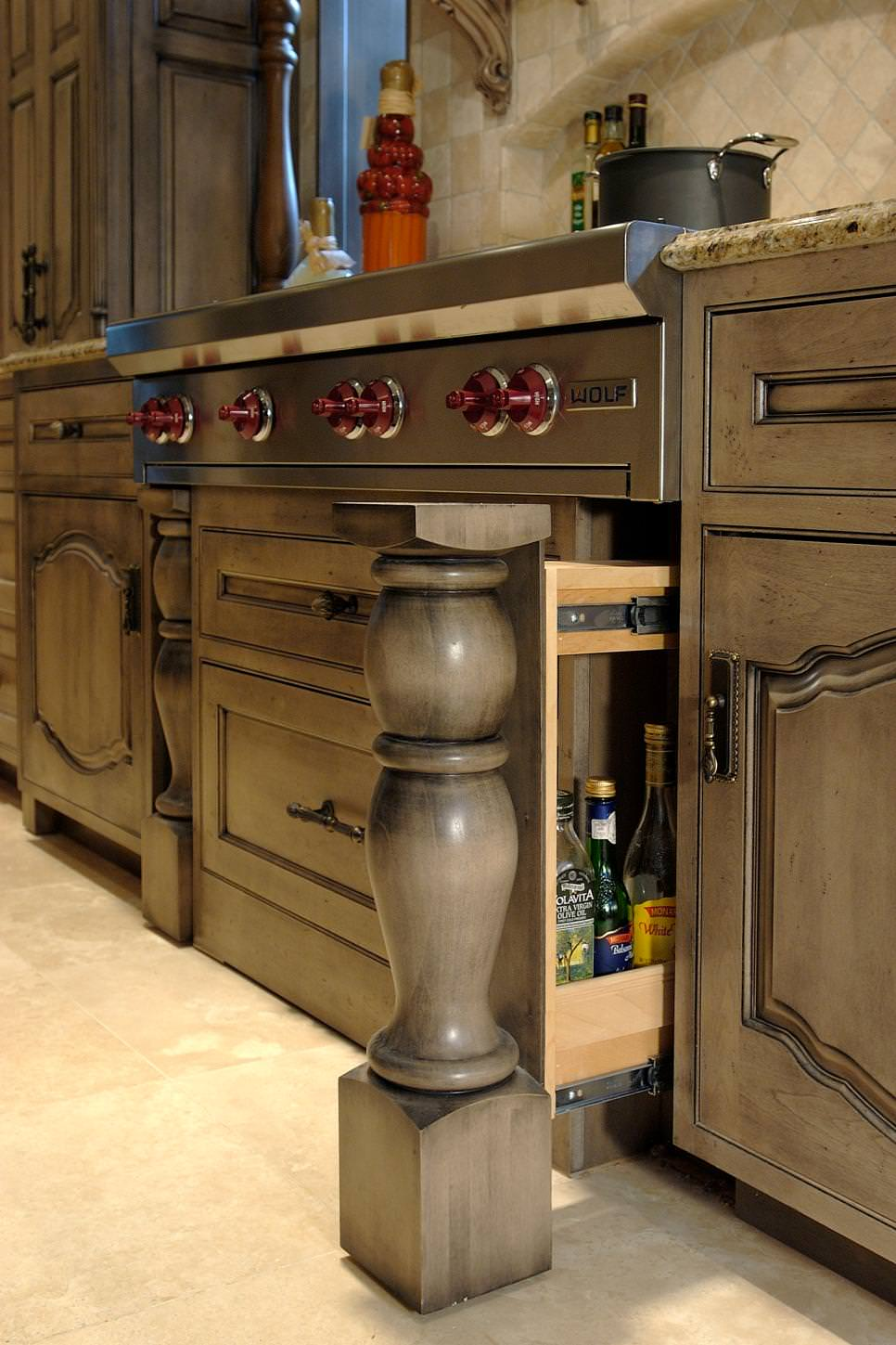 grey kitchen cabinets storage