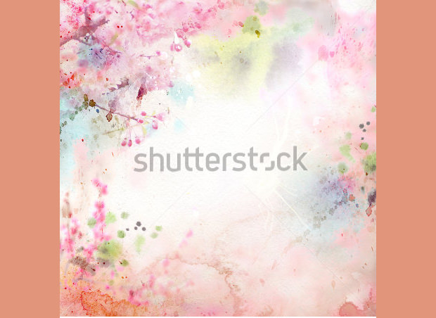 Scenic Watercolor Background